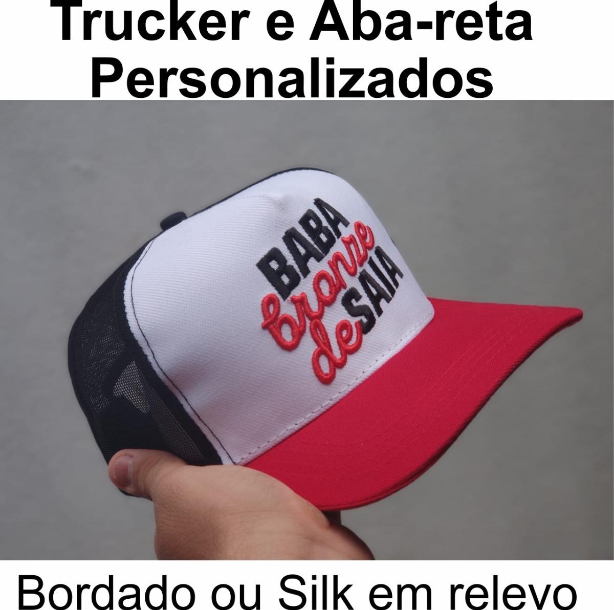 boné personalizado trucker ac ou aba-reta (20 unidades). Carregando zoom. bd2fbb87ce8