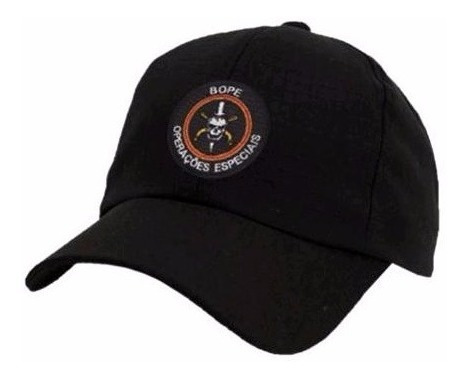 boné preto - bordado bope operações especiais