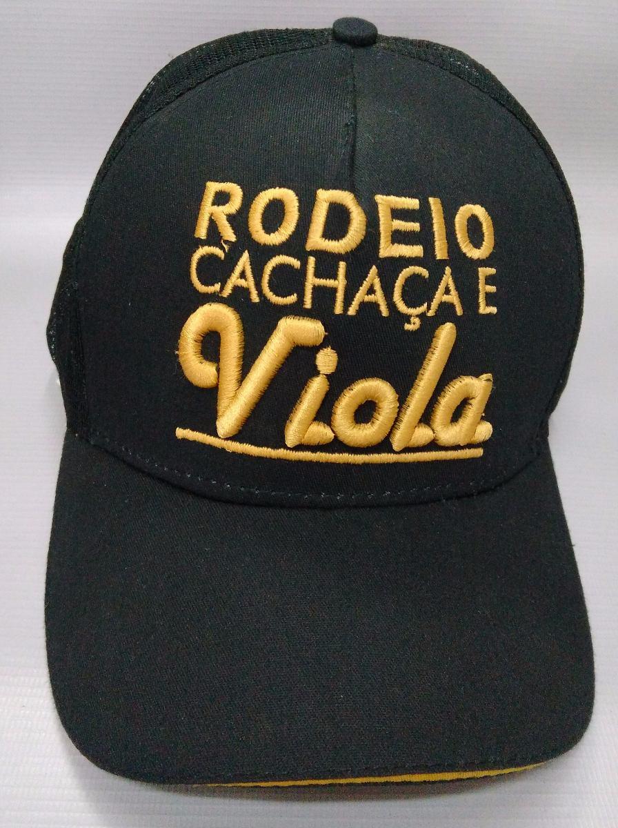 Boné Preto Rodeio Cachaça E Viola Country Tela Casual Rodeio - R  55 ... 307e45bee14