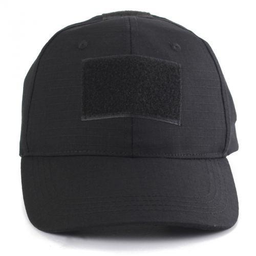 Boné Preto/black - Baseball Cap - Velcro Patch
