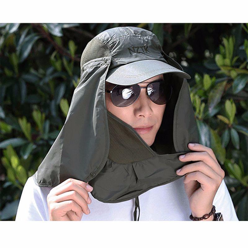 boné proteção solar chapéu pesca ouvido pescoço super barato. Carregando  zoom. 53ec7479234