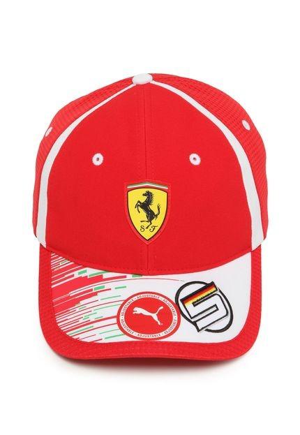 Bone Puma Ferrari Replica Vettel Team Cap Vermelho - R  199 fe15db83f44