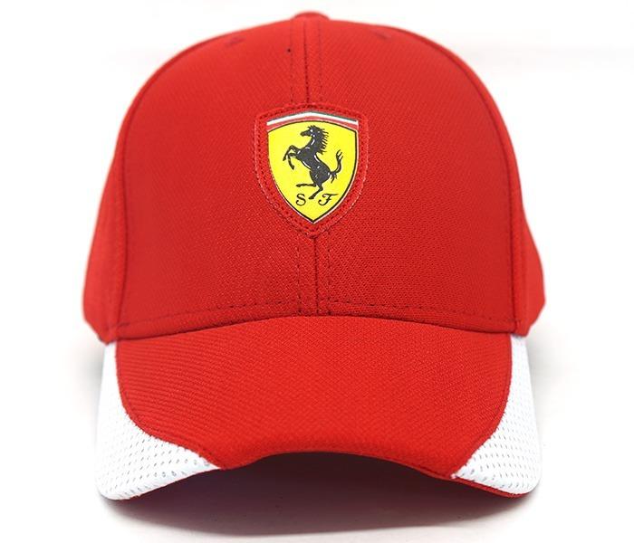 d9d796a8544 Boné Puma Ferrari Vermelho E Branco - R  80