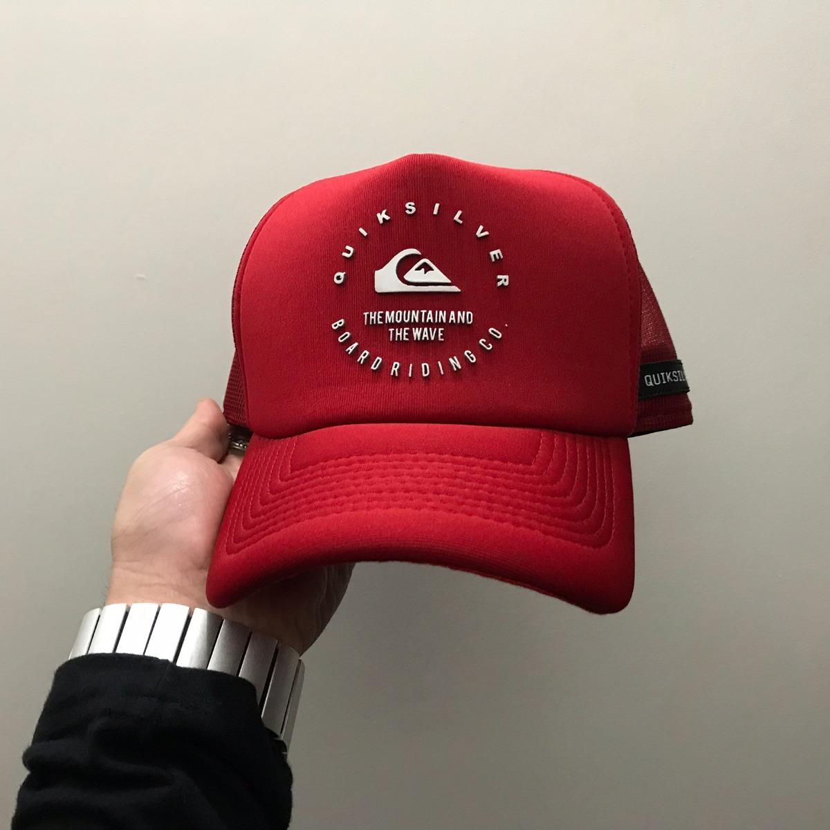 boné quiksilver brand wave red vermelho aba curva trucker. Carregando zoom. 095b801213a