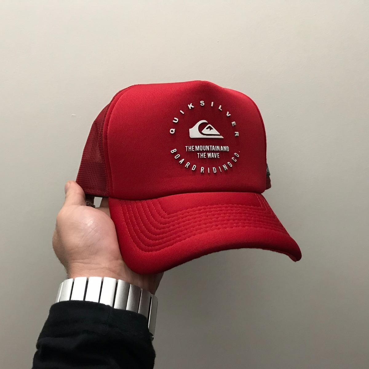boné quiksilver brand wave red vermelho aba curva trucker. Carregando zoom. 50e9dc73fc6