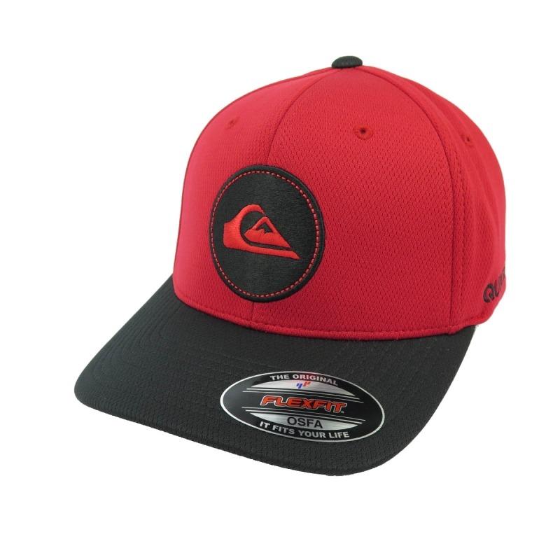 b9a1b0e3ba1e3 Boné Quiksilver Flexfit Hybrid Logo Vermelho preto - R  229,90 em ...
