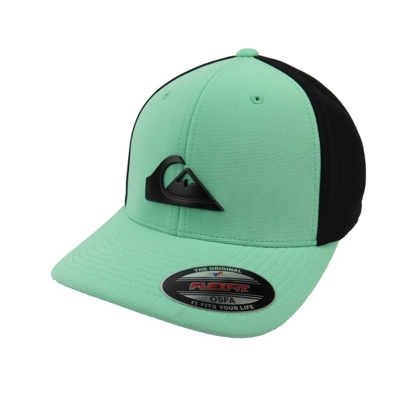 6d9f32323d9e7 boné quiksilver flexfit solid preto e verde. Carregando zoom.