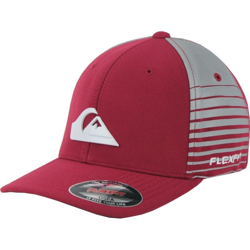 boné quiksilver flexfit stripe side vermelho. Carregando zoom. 579fd242ef2
