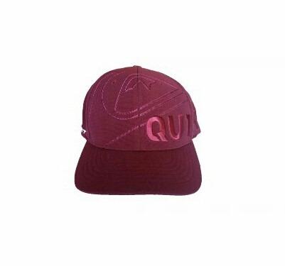 Boné Quiksilver Letreiro Vinho Aba Curva - R  80,00 em Mercado Livre 0715903bdc