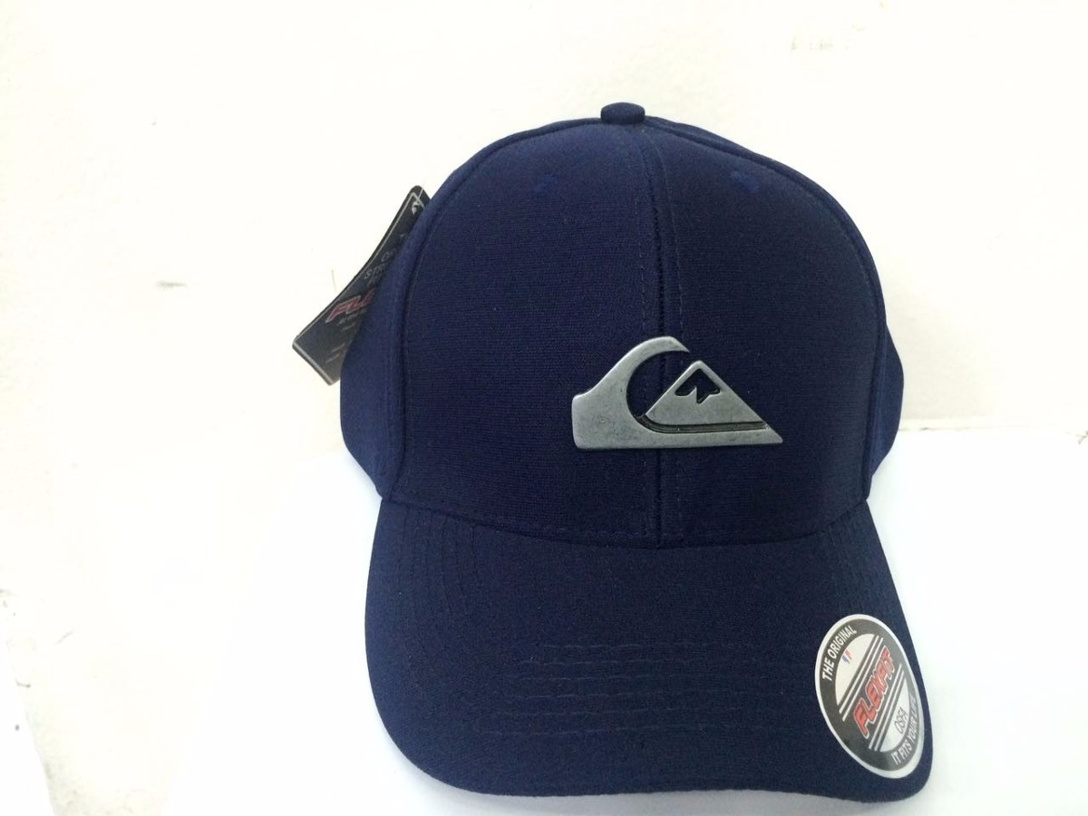 boné quiksilver metal flex fit - azul marinho. Carregando zoom. d033ba74b11