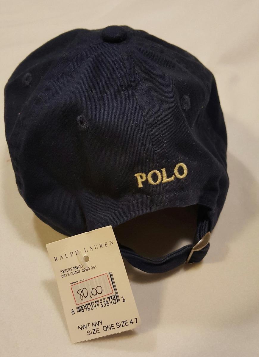 ab5d47daa8bd8 Boné Polo Ralph Lauren Para Criança Azul    Original     - R  70