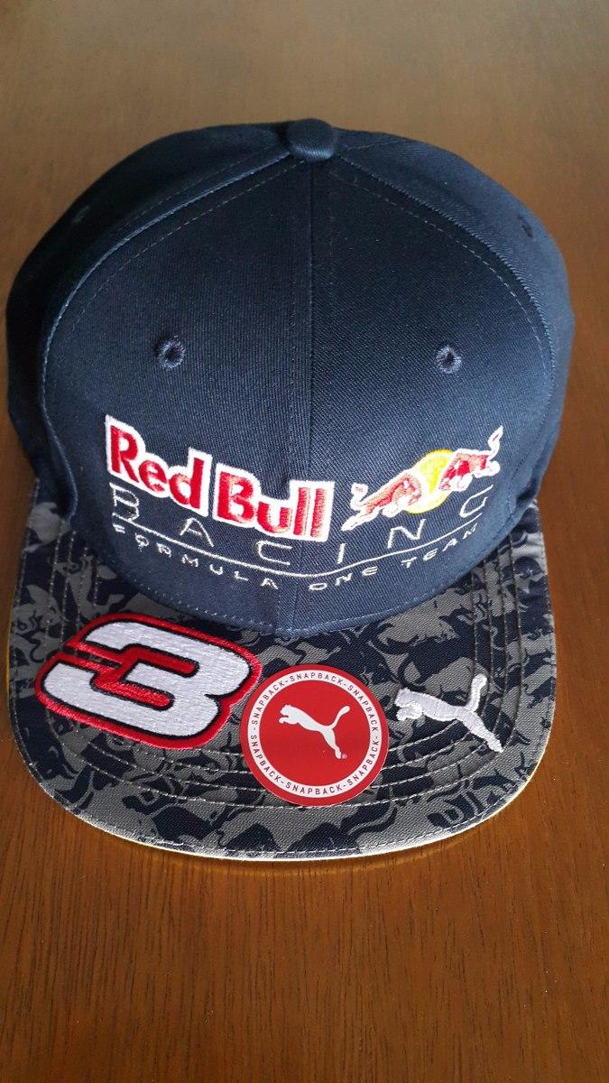 Novo Boné Aba Reta Red Bull Racing F1 Daniel Ricciardo 2016 - R  168 ... f1945ad43d5