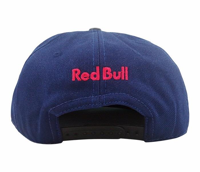 boné aba reta red bull azul marinho e preto · boné red bull 9f567da186c
