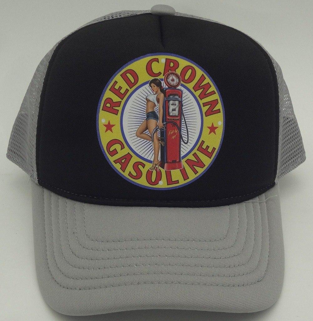 boné red crown gasoline cinza preto retrô vintage trucker. Carregando zoom. e45b7cf3b58