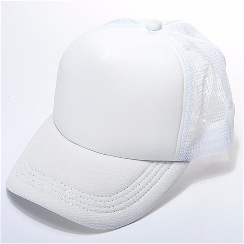 boné redinha liso tela branco aba curva telinha trucker. Carregando zoom. 8bcf822d7b739