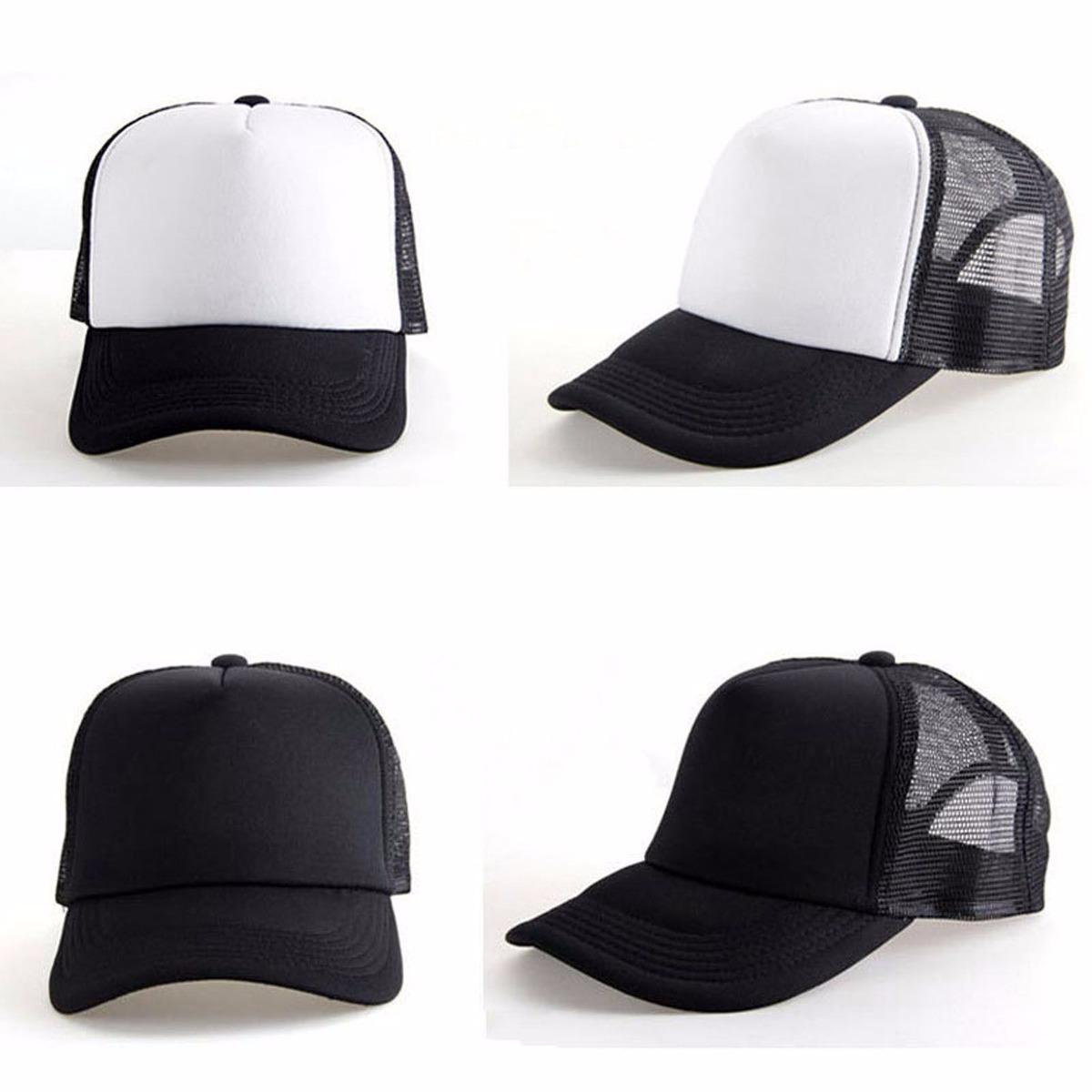 boné redinha tela preto branco duas cores moda justin bieber. Carregando  zoom. 09c173028d5