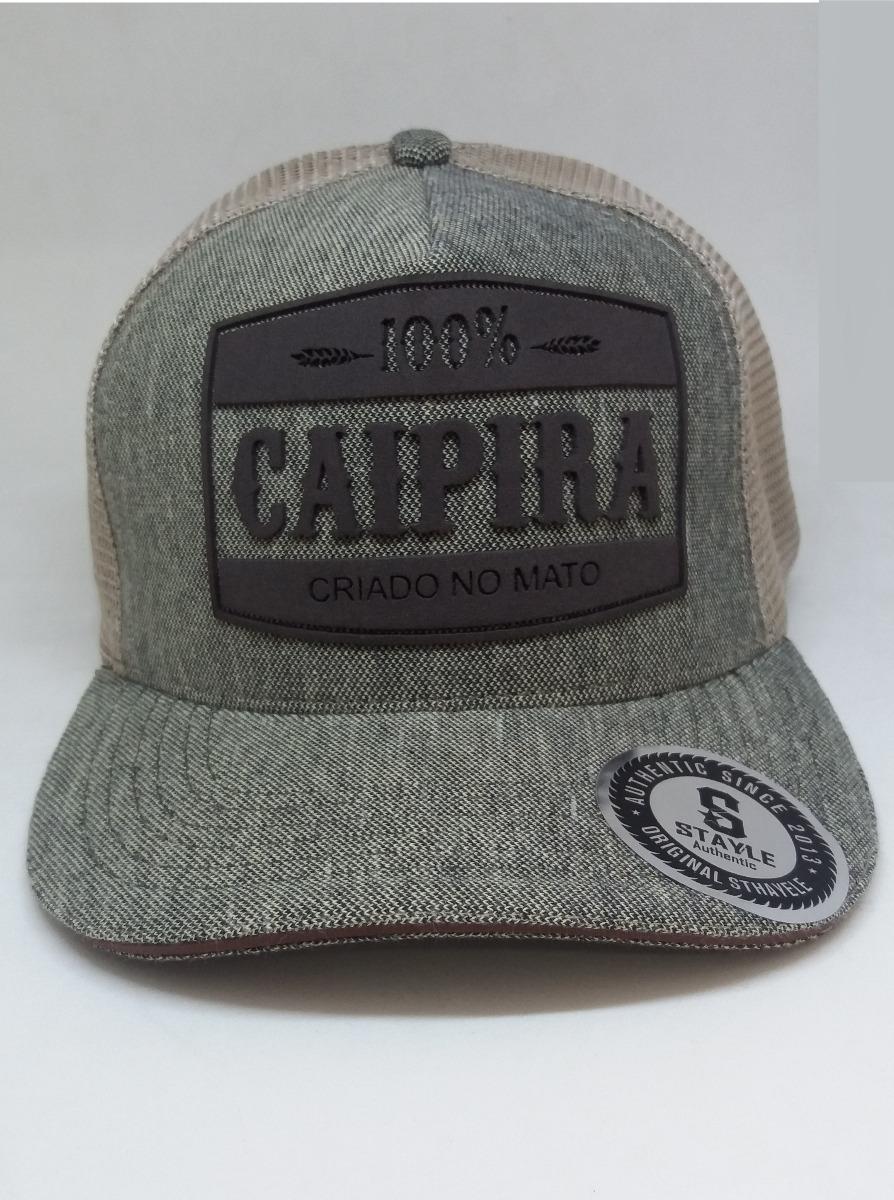 Boné Rodeio Country Original Caipira Criado No Mato Trucker - R  45 ... 742d6fbe236