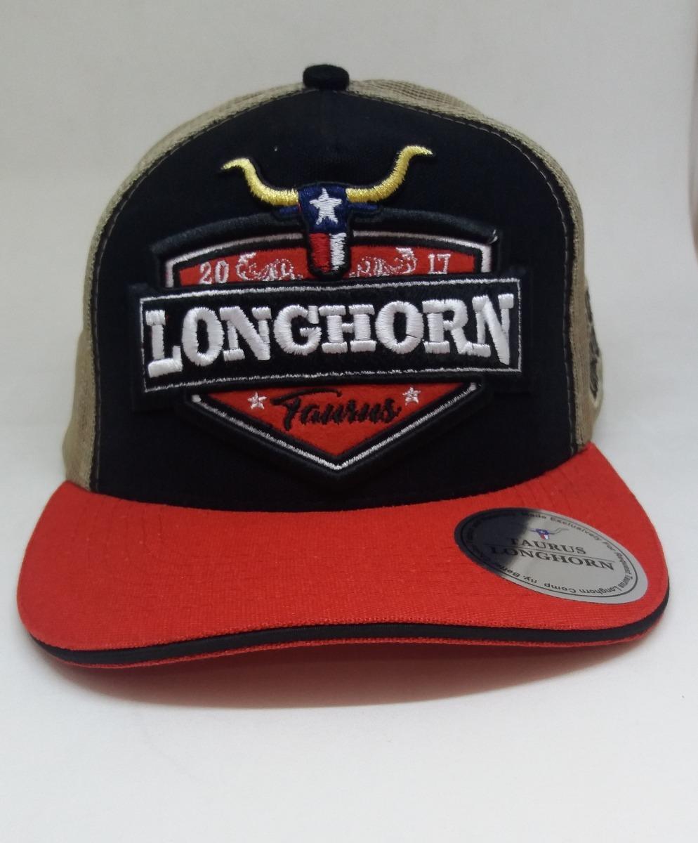 Bone Rodeio Country Original Touro Longhorn Bordado Preto - R  45 0ec5d0ee267