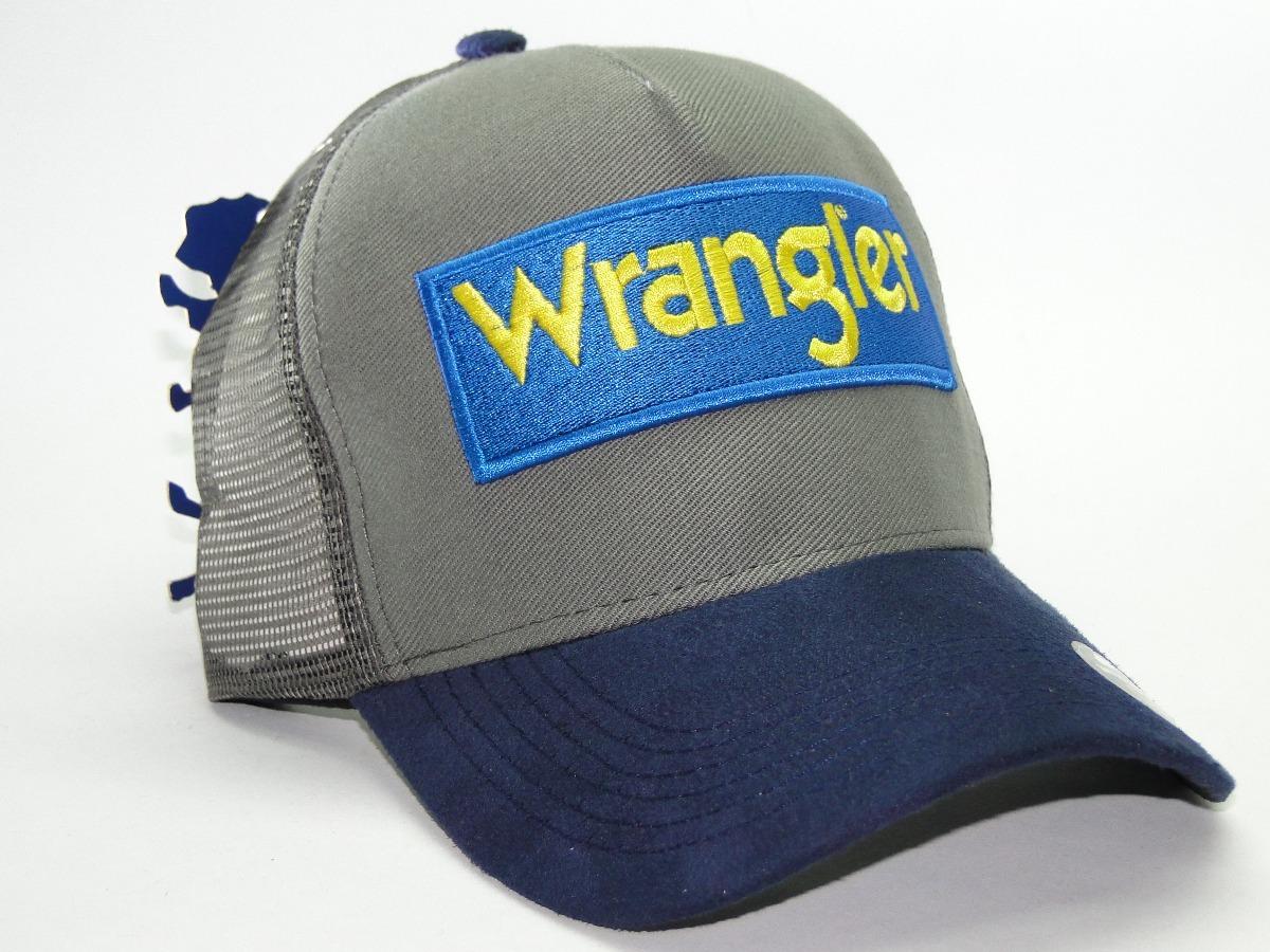 Boné Rodeio Wrangler Boné Wrangler Peão Orig Bison - R  34 134127f5ad6