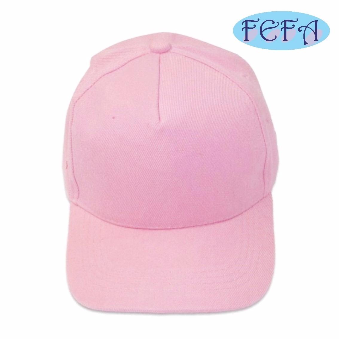 boné rosa bebê liso brim aba reta 5 gomos sem estampa. Carregando zoom. 2b44c8da61e