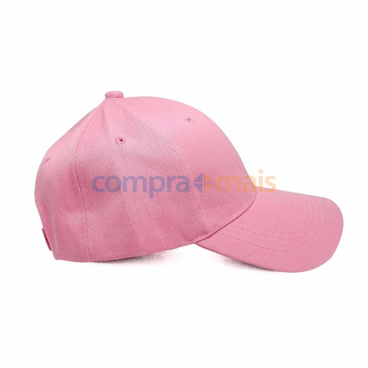 Boné Rosa Liso Aba Curva Aba Reta 2c48c6b7587