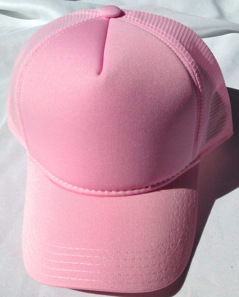 boné rosa tela trucker aba curva liso sem estampa telinha. Carregando zoom. d2508e0b8c4