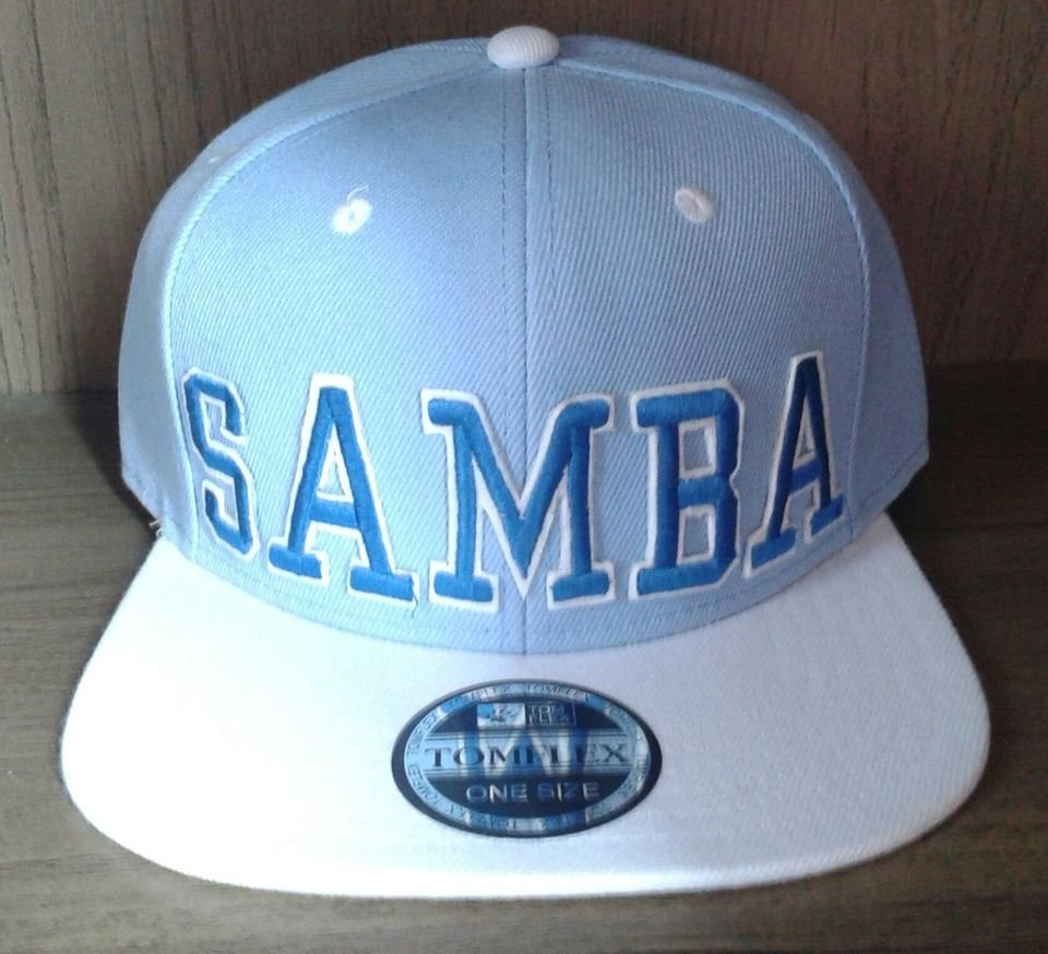 Boné Samba Aba Reta Snapback Azul branco - R  60 cb50b757559