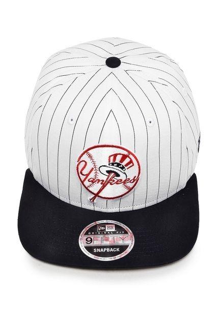 Boné Sanapback Regulagem New Era Yankees Mlb Listrado Origin ... f9e34c9570d