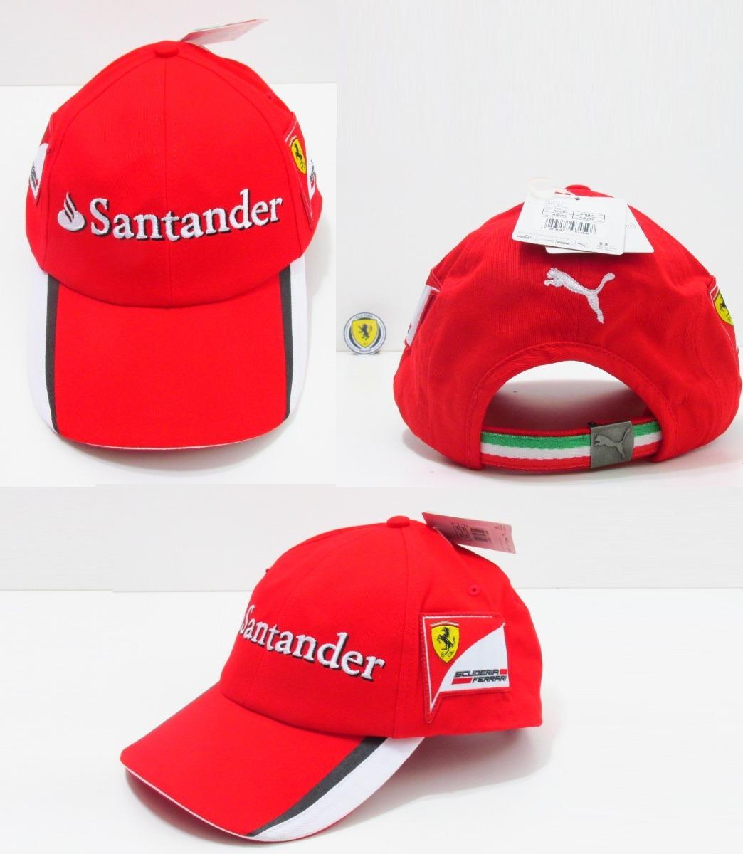 caa86cedf2d0c Boné Santander Ferrari 100% Oficial Puma - R  249