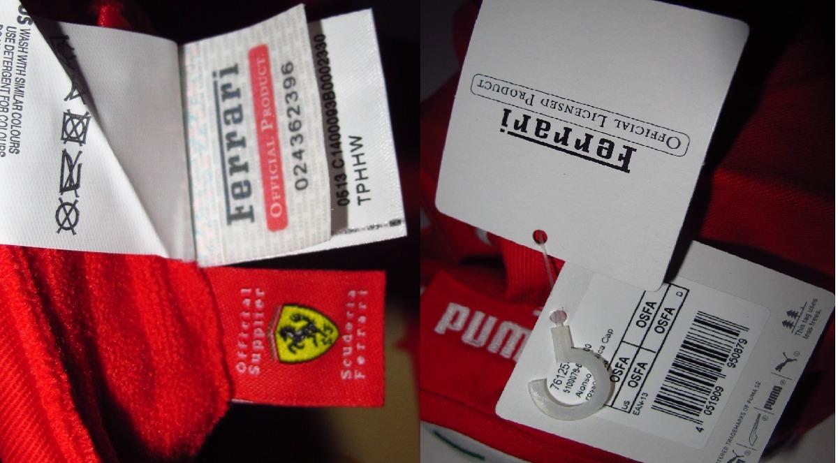 Boné Santander Ferrari 100% Oficial Puma - R  249 126b7cc33dd