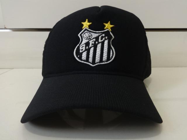 Boné Santos Fc Trucker Neymar Aba Curva Bordado Tela Oferta - R  29 ... efa2fd53983