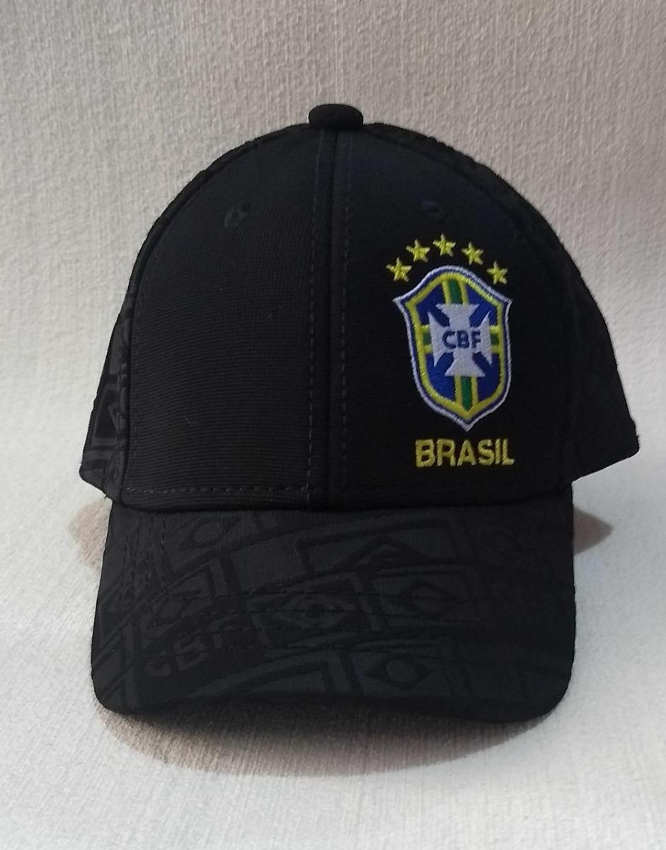 boné seleção brasil cbf infantil futebol original preto fg. Carregando zoom. b069fd56f55