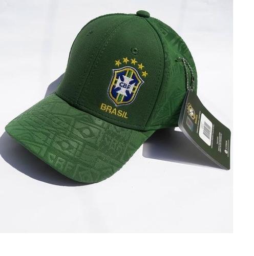 boné seleção brasil cbf infantil futebol original verde fg