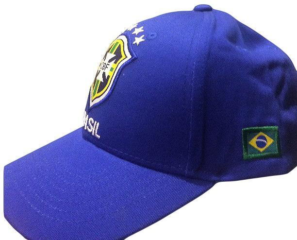 1e61ee98cc502 Boné Seleção Brasil - Original - Azul 10 Peças Frete Grátis - R  230 ...