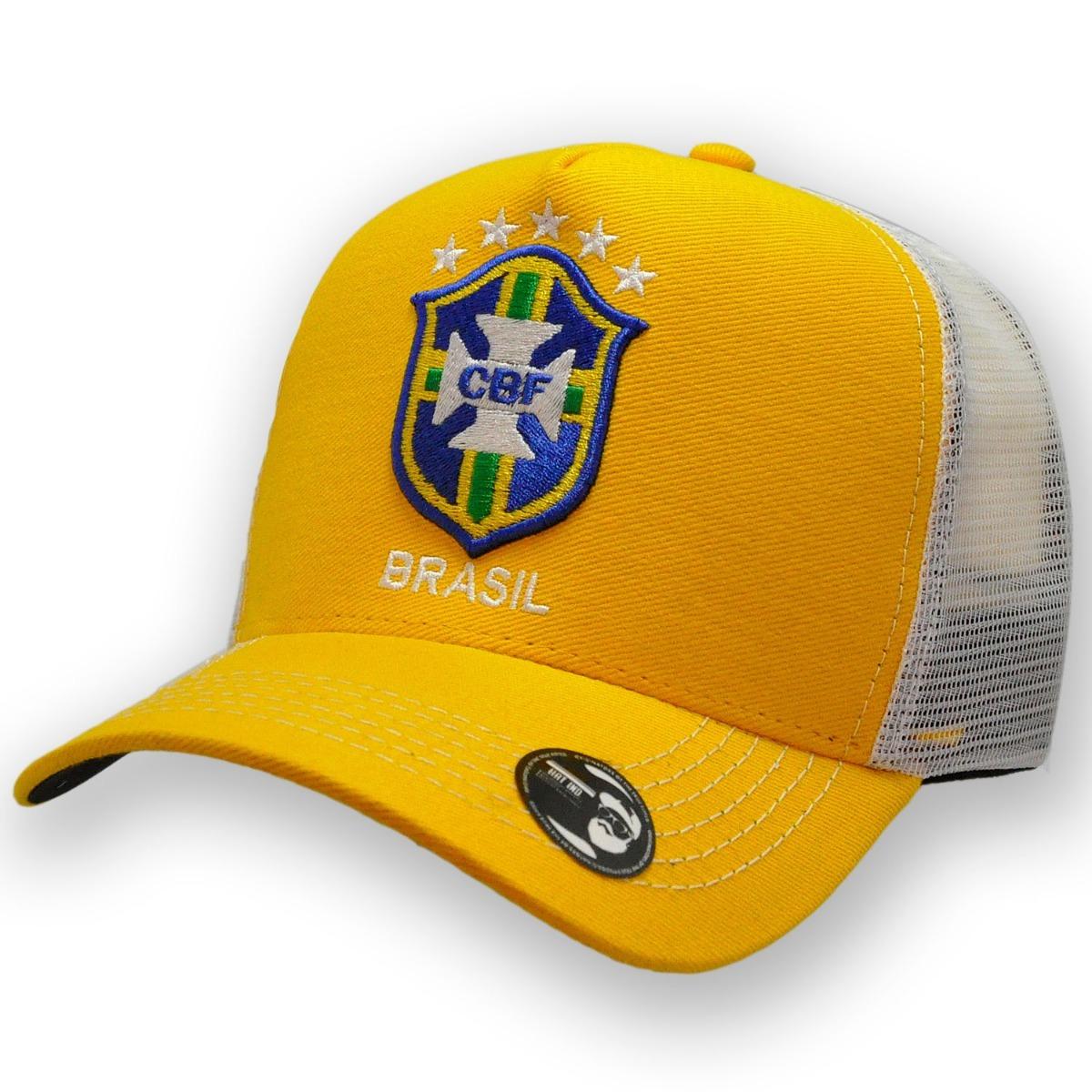 boné seleção brasileira copa 2018 - boné trucker aba curva. Carregando zoom. 26231860082