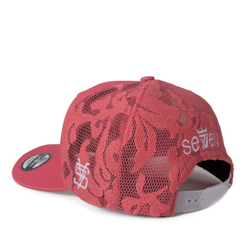 Boné Seven Brand Snapback Lace Girl Salmão - R  89 9e7e4ea2fbc