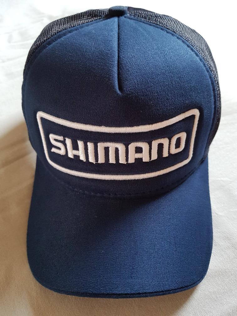 68e41181a49a9 Boné Shimano Bike E Pesca  azul Marinho logo Bordado Branco - R  21 ...