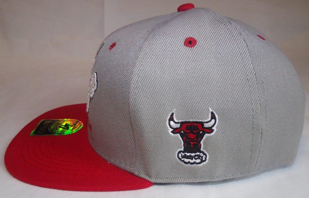 131918d344629 Boné Snapback Aba Reta Cinza Chicago Bulls 47 Brand Nba - R  99