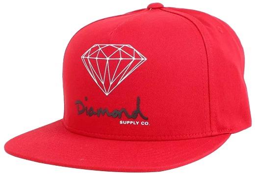 35a9b84a5e3cf Boné Snapback Diamond Og Sign Vermelho Original - R  179