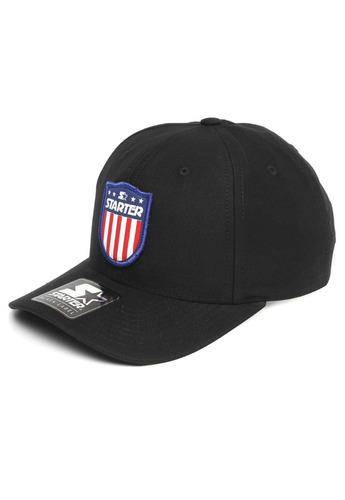 Boné Starter Preto Snapback American Shield Promoção - R  119 c9052b99f3d