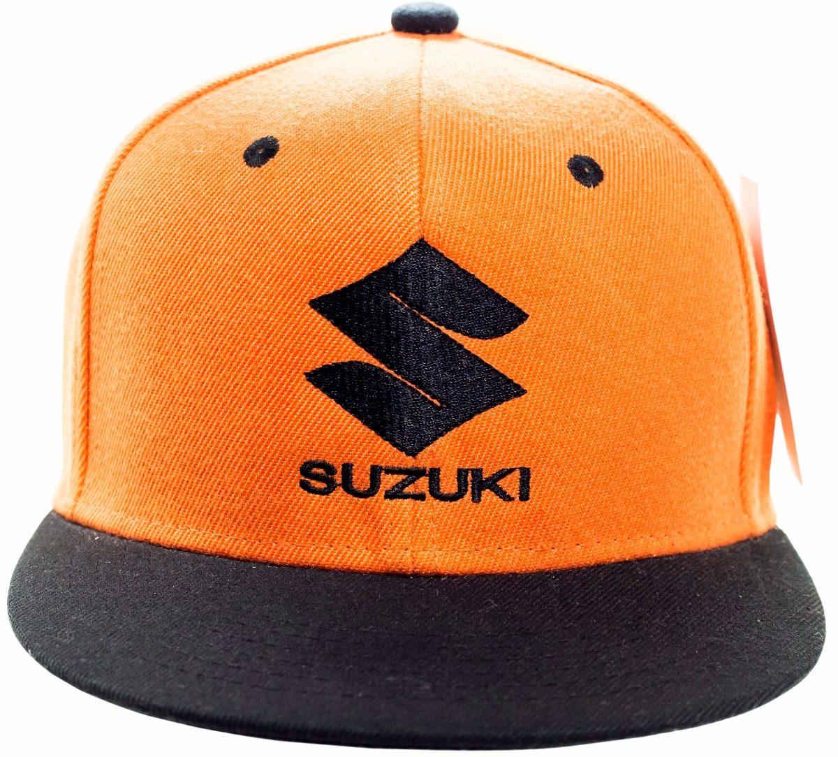 39bc99be8d boné suzuki bordado aba reta laranja / preto original. Carregando zoom.