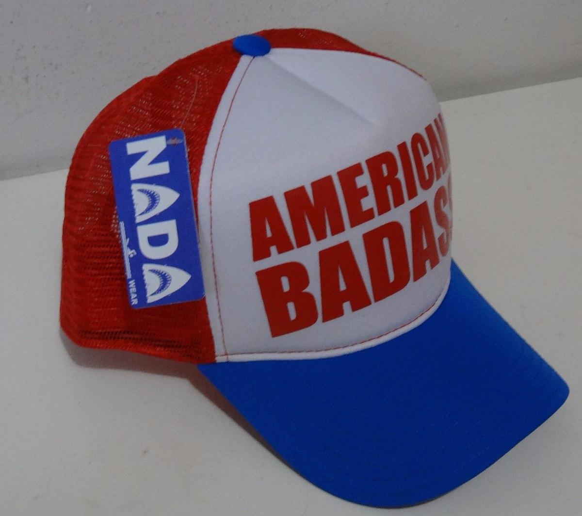 8c94df426e1 boné tela 3 cores silk american badass kid rock hat aba curv. Carregando  zoom.