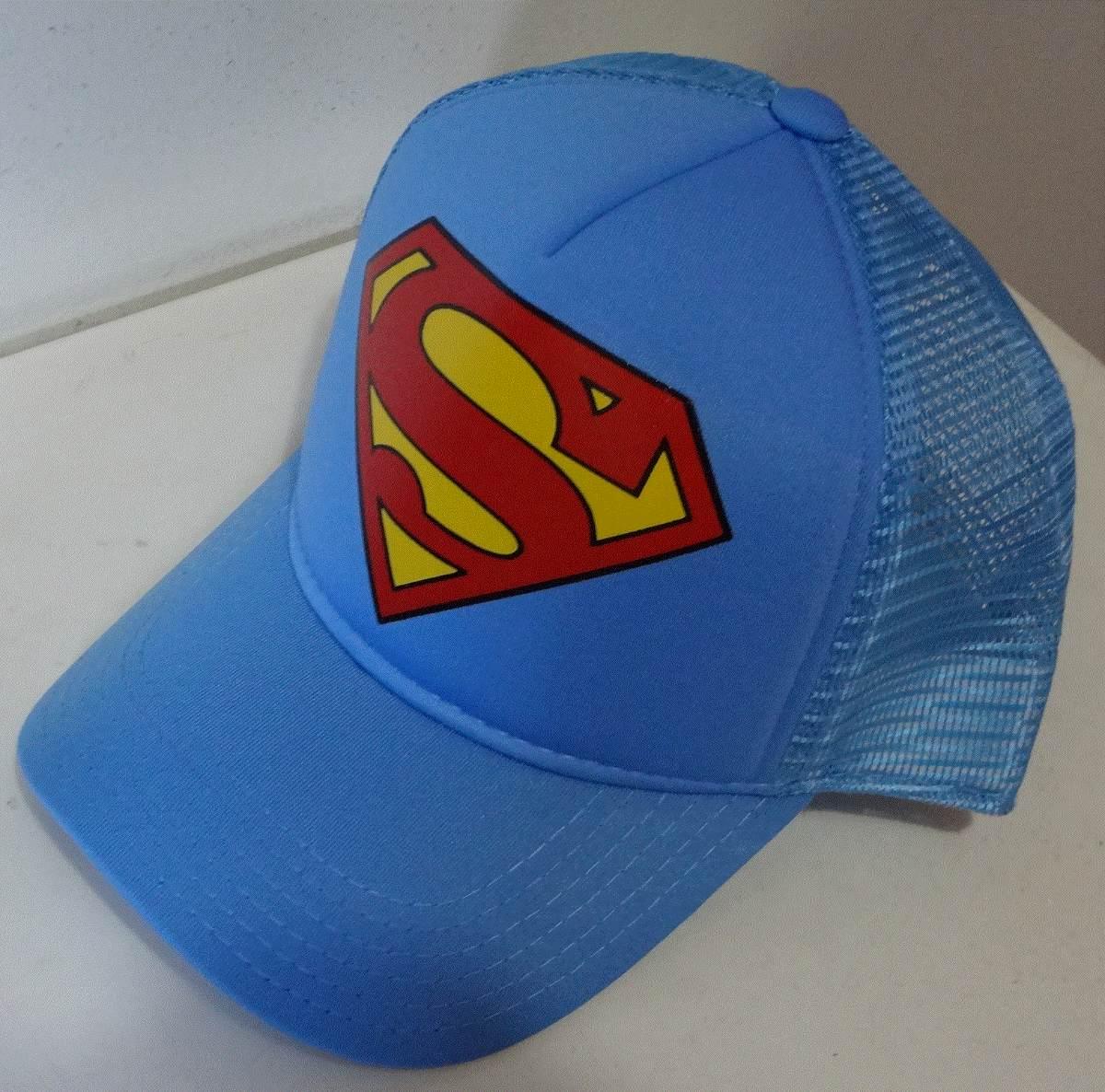boné tela azul claro silk superman super homem dc trucker. Carregando zoom. b0ae077e056