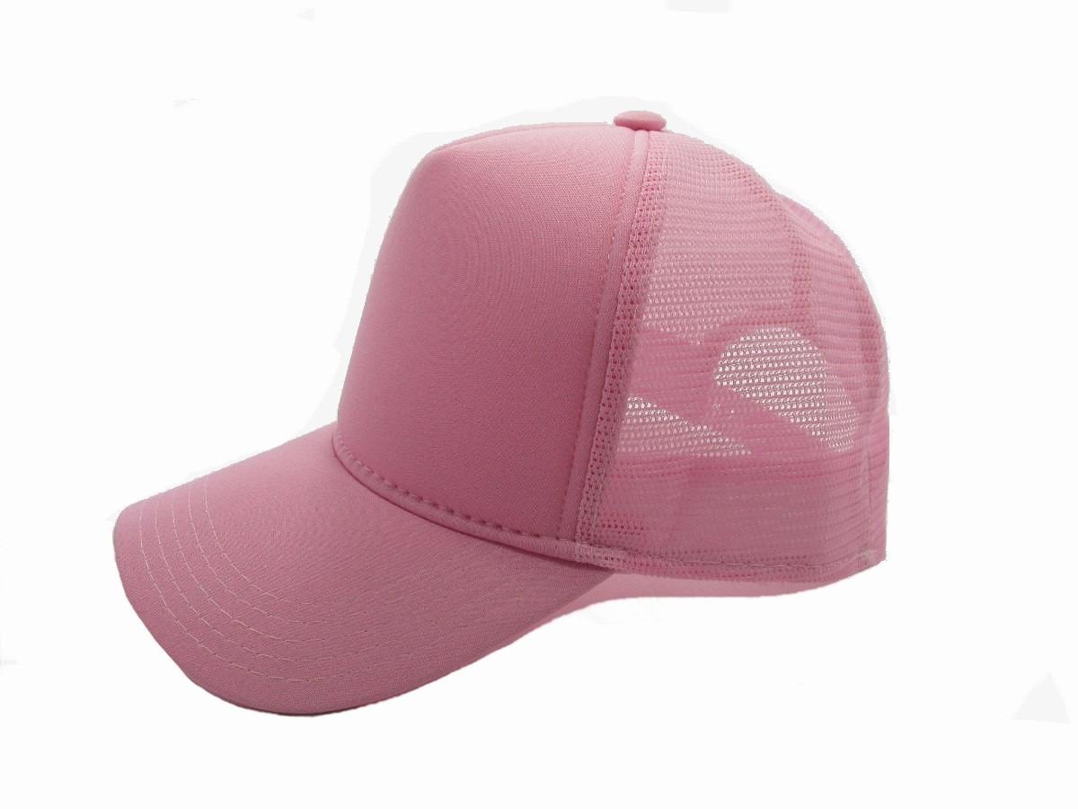 boné tela telinha rosa liso trucker aba curva moda redinha. Carregando zoom. df2c302dcf5
