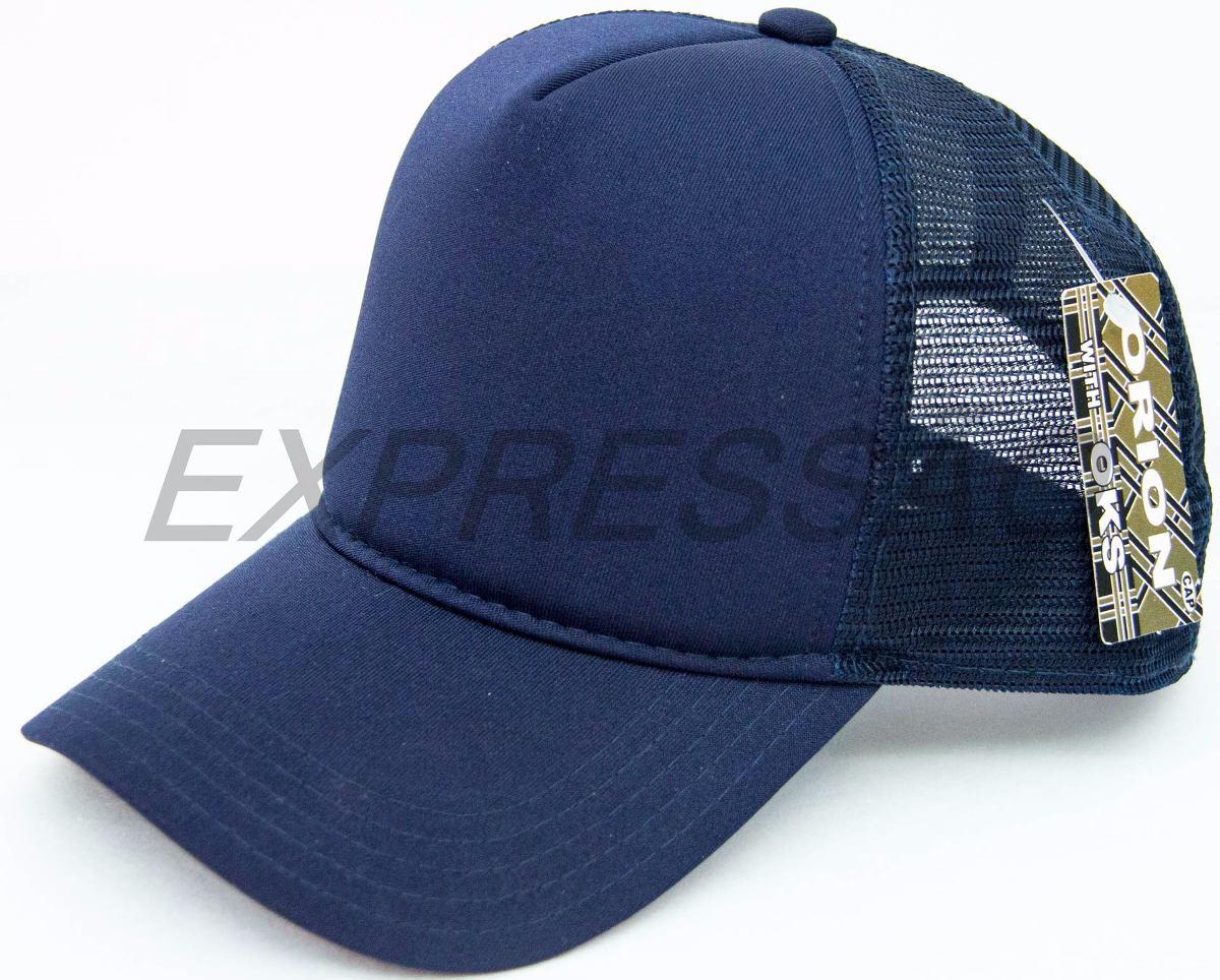 boné telado redinha liso trucker azul marinho. Carregando zoom. e8893a742f5