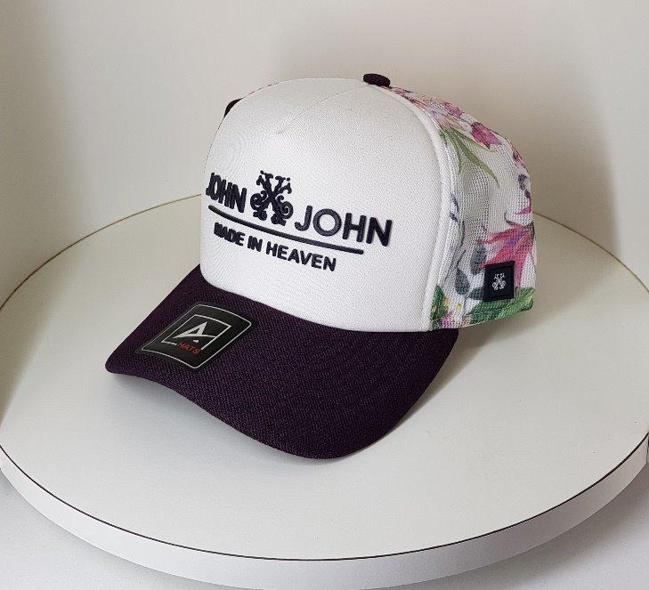Boné Telinha Trucker Tela Floral Branco John John Mcd Oakley - R  49 ... 75d132df642