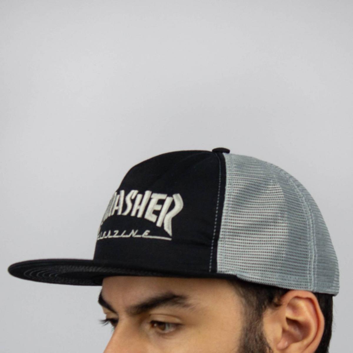 boné thrasher trucker mag logo mesh preto cinza original. Carregando zoom. ae04bc6d4d5