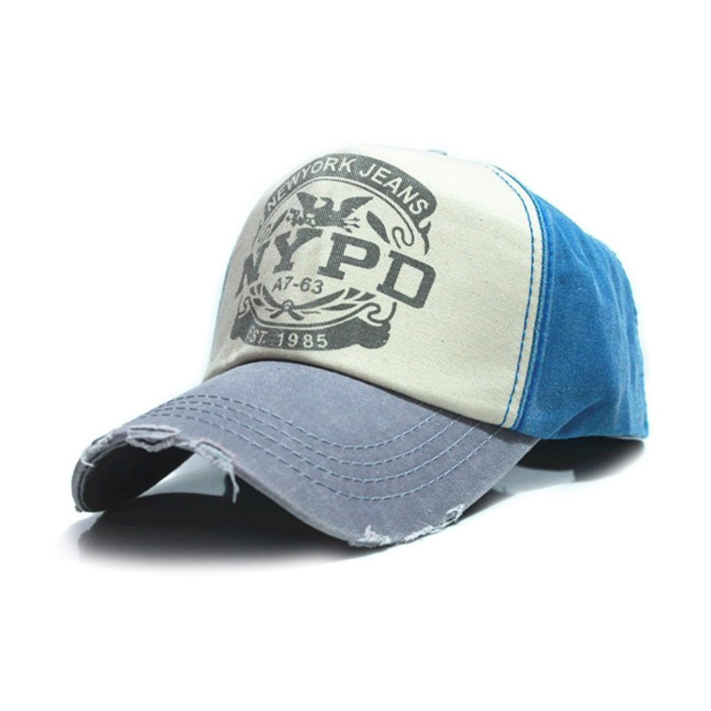 bdba35df3f240 boné trucker baseball aba curva nypd azul com cinza. Carregando zoom.