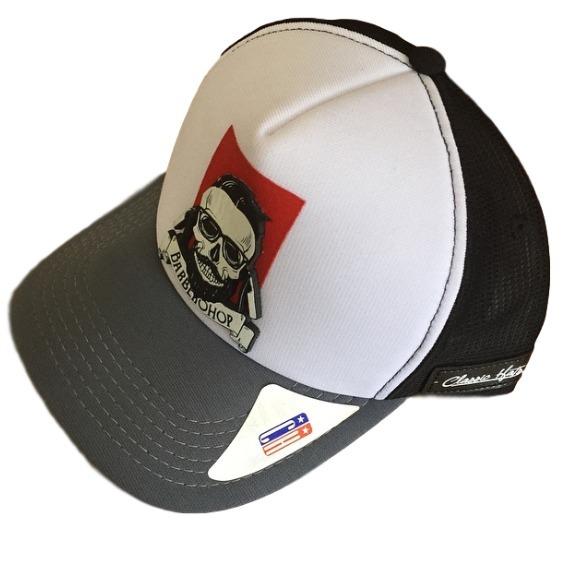 Boné Trucker Classic Hats Aba Curva Barber Shop Redinha - R  29 00c5a46375f