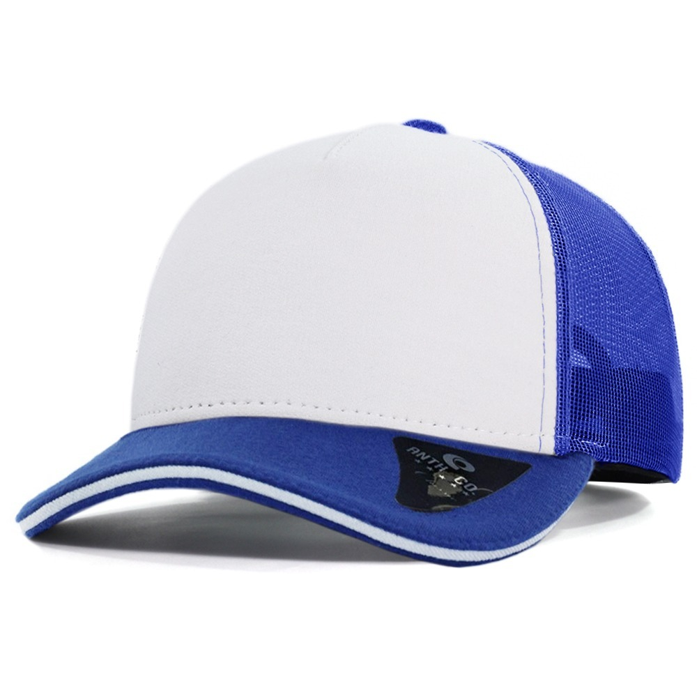 boné trucker com tela branco azul anth co. aba curva aberto. Carregando  zoom. 439ad57a44e